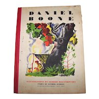 Vintage 1945 Hardback First Edition Daniel Boone Historic Adventures Of An American Hunter Among The Indians