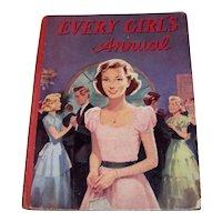 Vintage 1957 Hardback Book Every Girl's Annual