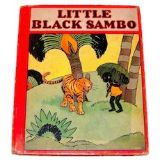 Vintage 1938 Hardback Children's Color Storybook Little Black Sambo; Gingerbread Man & Titty Mouse-Tatty Mouse