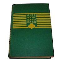Vintage 1945 Hardback Edition Girl Scouts Handbook For The Intermediate Program