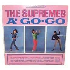 Vintage 1966 Supremes A' Go-Go Record Album