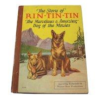 Vintage 1927 Hardback Book The Story Of Rin Tin Tin