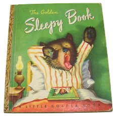Vintage 1948 First Edition Children's Hardback Book The Golden Sleepy Book