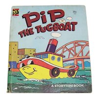 Vintage Children's Book Pip The Tugboat