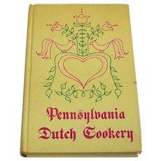 Vintage 1966 Hardback Recipe Book Entitled  Pennsylvania Dutch Cookery