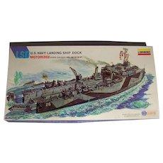 Vintage 1976 Lindberg Products Inc. U.S. Navy Authentic Motorized Landing Ship Dock