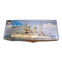 Vintage 1970's Life-Like Hobby Kit Of The  U.S.S. Olympia Admiral Dewey's Flagship