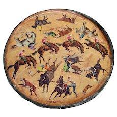 Vintage Rare 1967 Original Springbok Sam Savitt Rodeo Circular Puzzle