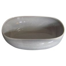 Vintage 1939-1959 Mid-Century American Modern Russel Wright Steubenville Granite Gray Large Salad Bowl
