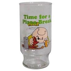 Vintage 1979 Ziggy Cartoon Glassware