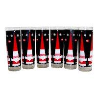 Vintage Holt Howard 1960's Dairy Queen Santa Glassware Set