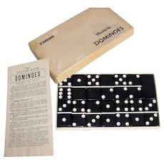 Vintage 1960's Puremco Standard #616 Black Domino Set
