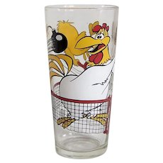 Vintage 1976 Pepsi-Warner Brothers Looney Tunes Foghorn Leghorn & Tweety Bird Cartoon Character Promotional Glassware