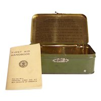 Vintage 1933 Original Boy Scouts of America Johnson & Johnson First Aid Kit