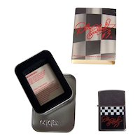Vintage 2000 Dale Earnhardt Checkered Flag Commemorative Zippo Lighter