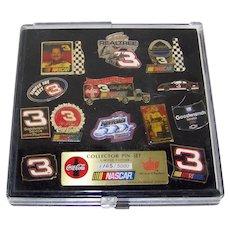 Vintage Dale Earnhardt Sr. NASCAR & Coca-Cola Commemorative Pin Set