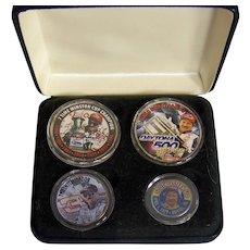Vintage Dale Earnhardt Sr. International Collectors Society Commemorative Silver Coin Set