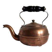 Vintage Miniature Gooseneck Copper Tea Kettle Made In England