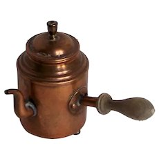 Vintage Miniature Copper Side-Handle Coffee Pot Made In Sweden