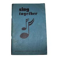 Vintage 1936 Girl Scouts Sing Together Song Book