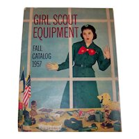 Vintage 1957 Girl Scout Equipment Fall Catalog