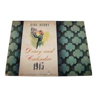Vintage 1945 Girl Scout Diary & Calendar