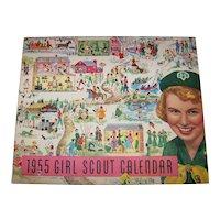 Vintage 1955 Girl Scout Calendar