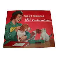 Vintage 1958 Girl Scout Calendar