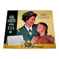Vintage 1964 Girl Scout Calendar