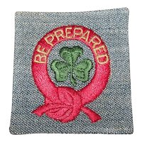 Vintage 1948-1960 Girl Scouts Be Prepared First Class Uniform Patch
