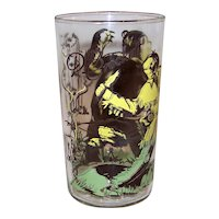 Vintage 1950's  Davy Crockett Character Glass