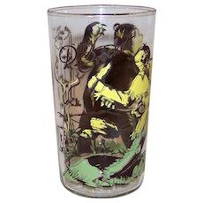 Vintage 1950's  Davy Crockett Character Glass