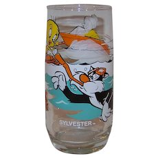 Vintage 1979 Pepsi-Cola & Warner Brothers Sylvester & Tweety Bird Character Action Glassware