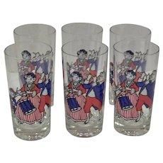 Vintage 1976 Borden Milk Company And Elsie The Cow Bi-Centennial Celebration Tumbler Glassware