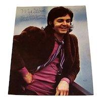 Vintage 1973 Paul McCartney & Linda McCartney Sheet Music Titled My Love