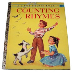 Vintage 1947 Little Golden Book Titled Counting Rhymes