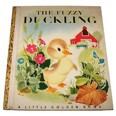 Vintage 1949 Little Golden Book Titled The Fuzzy Duckling