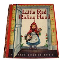 Vintage 1948 First Edition Little Golden Book Titled Little Red Riding Hood