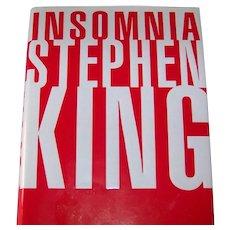 Vintage 1994 First Edition Stephen King Hardback Novel Titled Insomnia