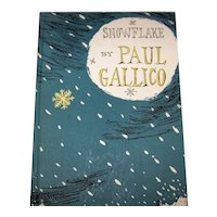 Vintage 1953 First Edition Hardcover Book Titled Snowflake By Paul Gallico
