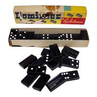 Vintage 1940's Halsam Embossed Empire State Building Wooden Domino Set