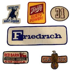 Vintage Assortment Of Embroidered American Company Uniform Patches