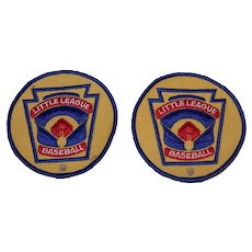 Vintage Little League Baseball Embroidered Patches
