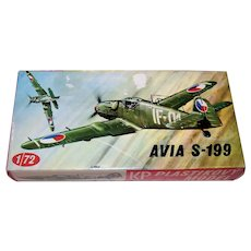 Vintage KP Plastikovy Czechoslovakian Avia CS-199 World War II Era 1/72 Scale Plastic Model Airplane Kit