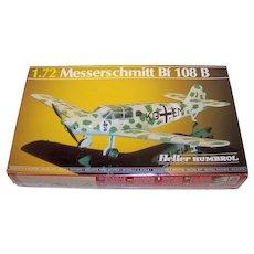 Vintage Heller Humbrol Messerschmitt Bf 108 B 1/72 Scale Plastic Model Plane Kit