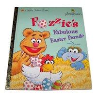 Vintage Little Golden Book Titled Jim Henson's Fozzie's Fabulous Easter Parade Children's Hardback Book