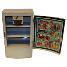 Vintage 1950's Wolverine Toy Company Tin Litho Polar Ice Children's Toy Refrigerator