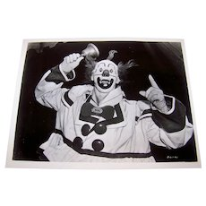 Vintage 1941 Type 1 Black & White Glossy Photograph Of International Hall Of Fame Performance Clown Paul Jerome