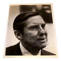 Vintage 1970's Original Stock Photo Autographed By Texas US Senator Lloyd Bentsen