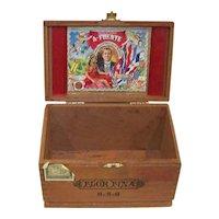 Vintage 1960's Arturo Fuente Flor Fina 8-5-8 Empty Wooden Cigar Box